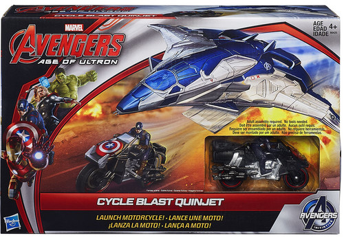 Marvel Avengers Age of Ultron Cycle Blast Quinjet 12-Inch Vehicle