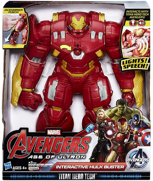 Marvel Avengers Age of Ultron Titan Hero Tech Interactive Hulk Buster Action Figure
