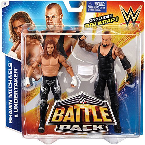 WWE Wrestling Battle Pack Series 33 Shawn Michaels & Undertaker Action Figure 2-Pack [Rib Wrap]