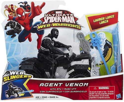 Ultimate Spider-Man Web-Warriors Web Slingers Agent Venom [With ATV]