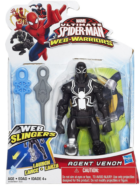 Ultimate Spider-Man Web-Warriors Web Slingers Agent Venom Action Figure