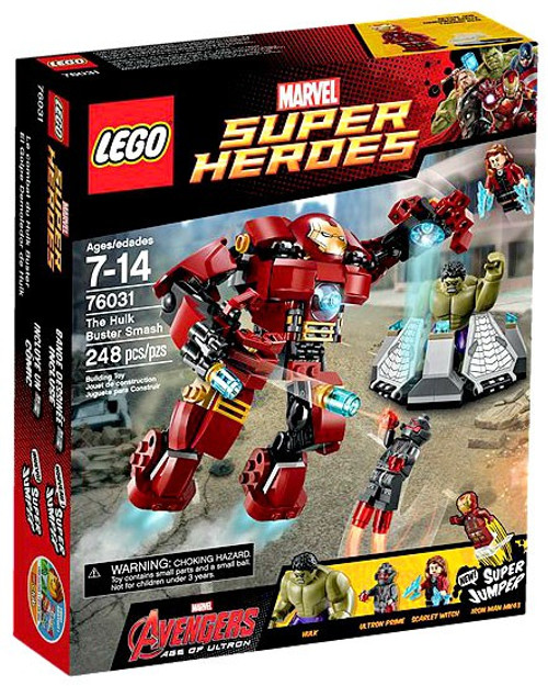 LEGO Marvel Super Heroes Avengers Age of Ultron The Hulk Buster Smash Set #76031