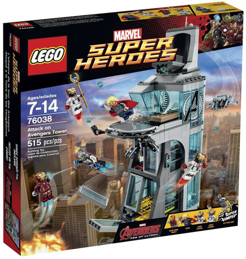 LEGO Marvel Super Heroes Avengers Age of Ultron Attack on Avengers Tower Set #76038