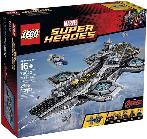 LEGO Marvel Super Heroes Avengers The SHIELD Helicarrier Exclusive Set #76042