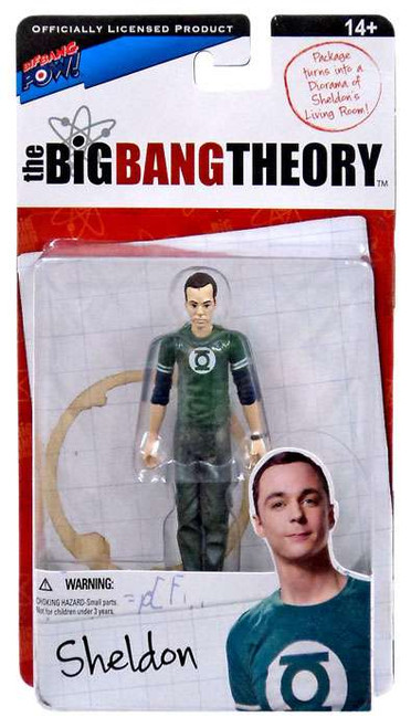 The Big Bang Theory Series One Sheldon Action Figure [Green Lantern]