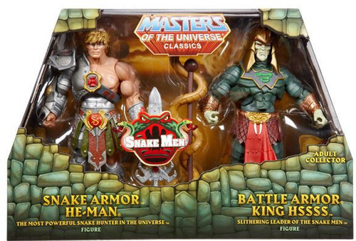 Masters of the Universe Classics Snake He-Man & Battle Armor King Hsss Action Figure 2-Pack