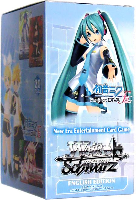 Weiss Schwarz Hatsune Miku: Project DIVA F 2nd Booster Box [20 Packs]