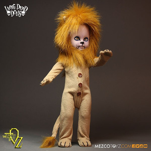 Living Dead Dolls Lost In Oz Teddy as The Lion 10-Inch Doll