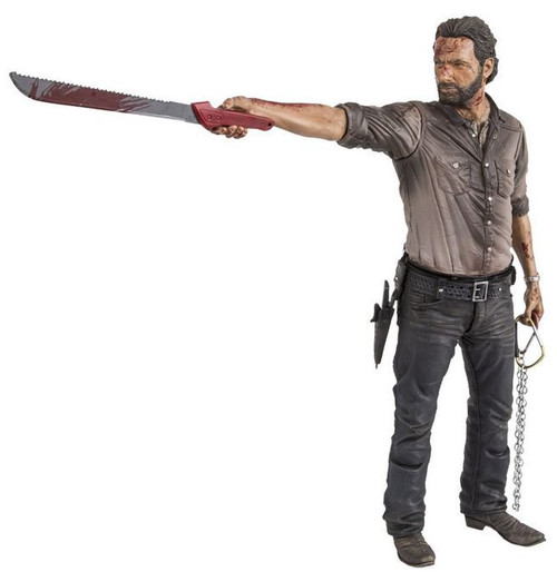 McFarlane Toys The Walking Dead AMC TV Rick Grimes Deluxe Action Figure [Vigilante, Bloody Version]