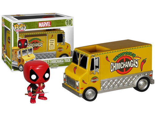 Funko POP! Marvel Deadpool's Chimichanga Truck Vinyl Bobble Head #10 [Yellow Truck (Removable Deadpool)]