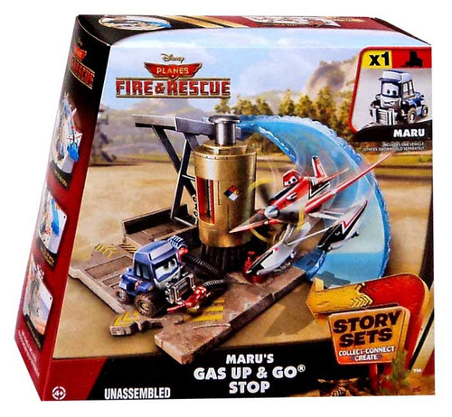Disney Planes Fire & Rescue Story Sets Maru's Gas Up & Go Stop Playset [With Maru]