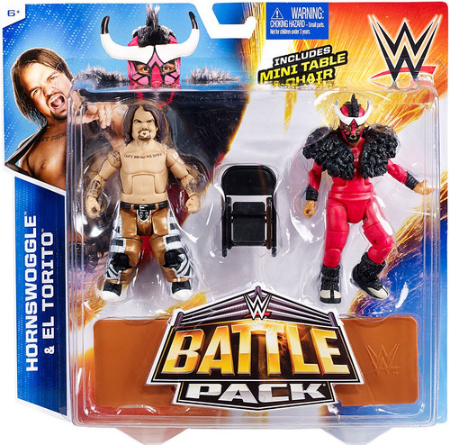 WWE Wrestling Battle Pack Series 34 Hornswoggle & El Torito Action Figure 2-Pack [Mini Table & Chair]