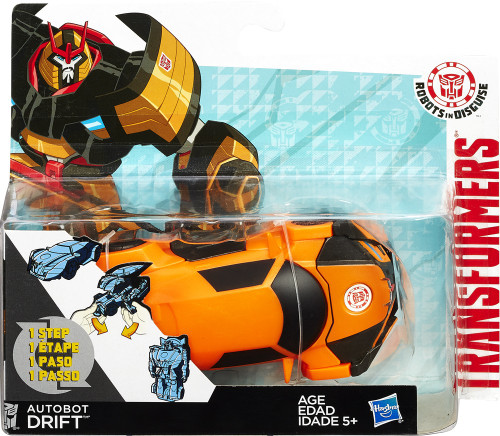Transformers Robots in Disguise 1 Step Changers Autobot Drift Action Figure