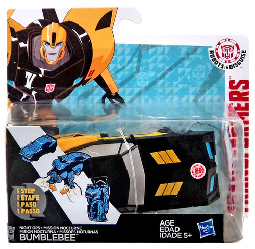 Transformers Robots in Disguise 1 Step Changers Bumblebee Action Figure [Night Ops]