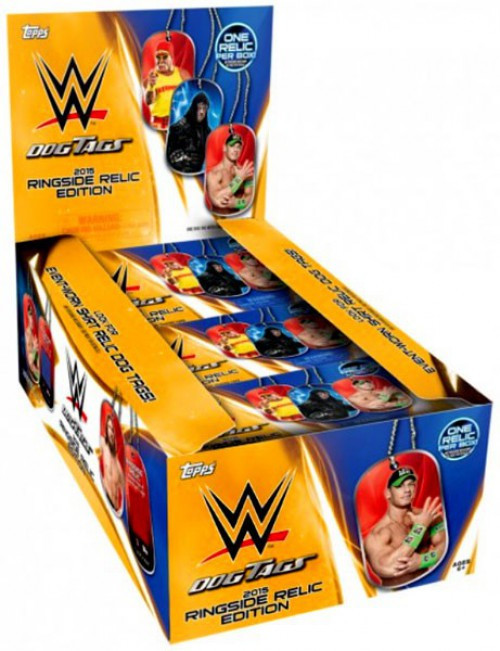 WWE Wrestling Topps 2015 Ringside Relic Edition Dog Tag / Trading Card Box [24 Packs]