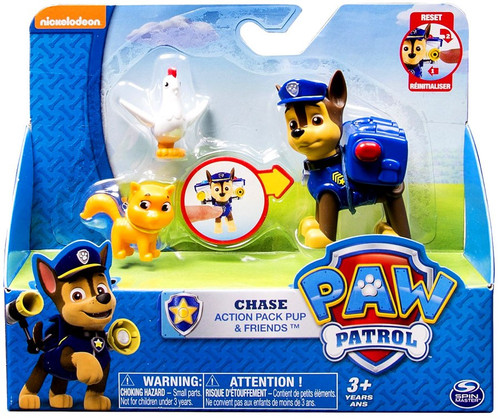 Paw Patrol Action Pack Pup Chase & Friends Exclusive Figure Set