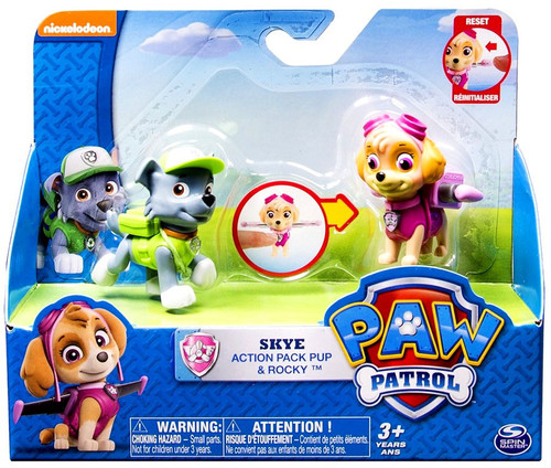 Paw Patrol Action Pack Pup Skye & Rocky Figure Set