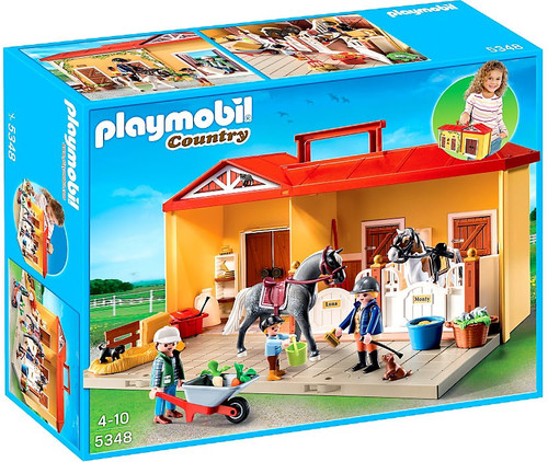 Playmobil Country Take Along Horse Stable Set #5348