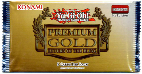 YuGiOh Trading Card Game Premium Gold Return of the Bling Booster Pack [5 Cards!]