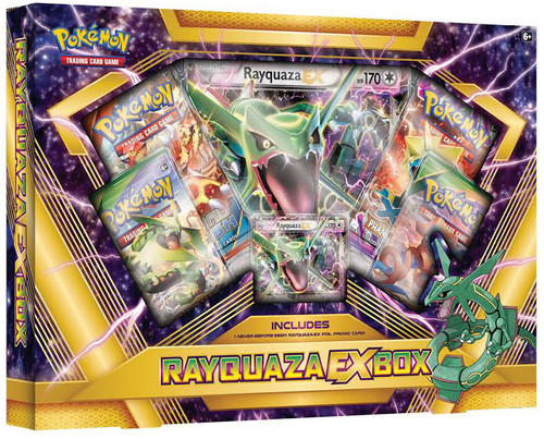 Pokemon Trading Card Game XY Rayquaza EX Box [4 Booster Packs, Promo Card & Oversize Card!]