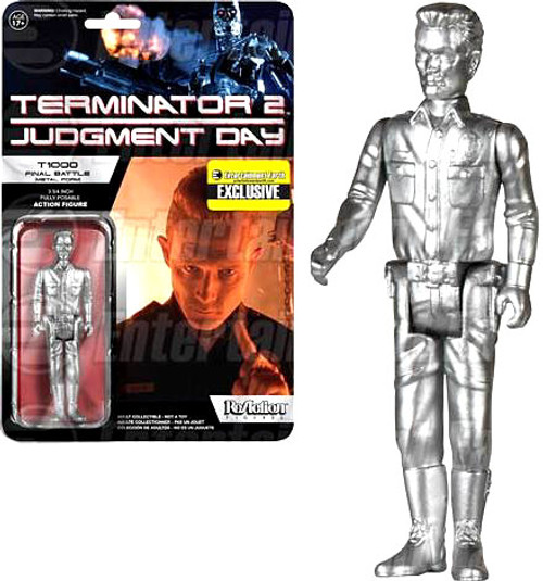 Funko Terminator 2 Judgment Day ReAction T-1000 Officer Exclusive Action Figure [Metallic]