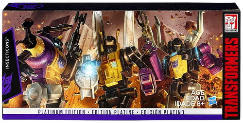 Transformers Generations Platinum Edition Insecticons Action Figure Set [Bombshell, Kickback & Skrapnel]