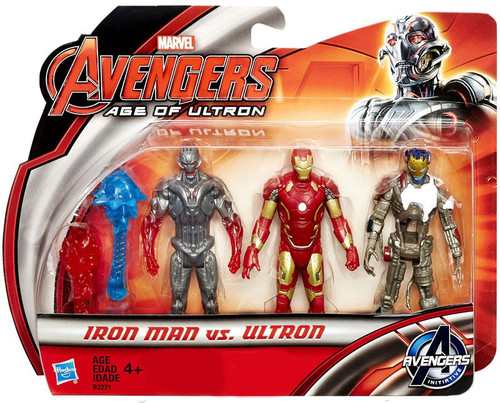 Marvel Avengers Age of Ultron Iron Man vs Ultron Exclusive Action Figure 3-Pack