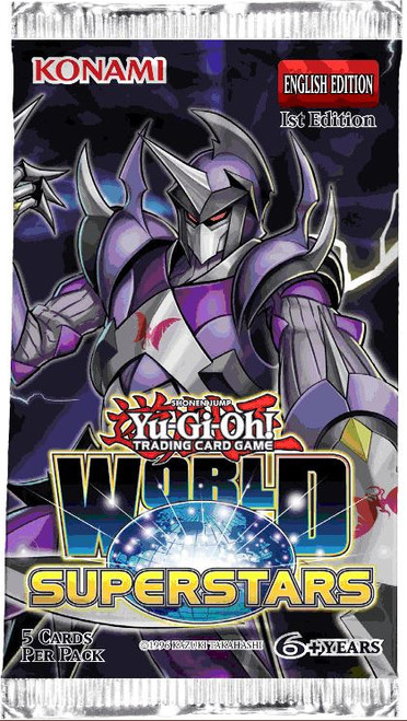 YuGiOh Trading Card Game World Superstars Booster Pack [5 Cards]
