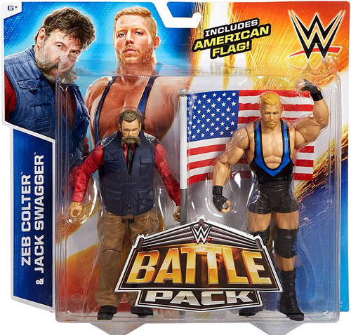 WWE Wrestling Battle Pack Series 35 Zeb Colter & Jack Swagger Action Figure 2-Pack