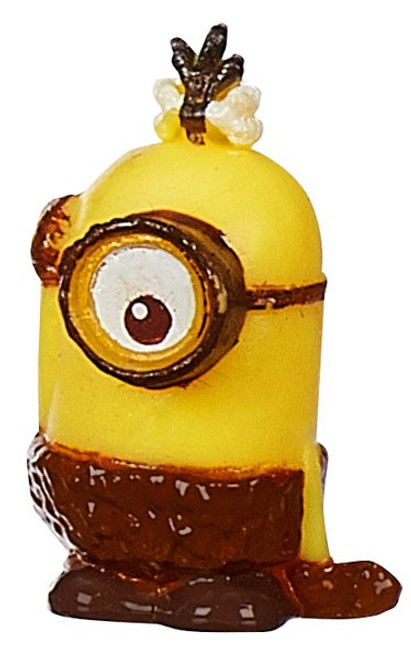 Despicable Me Minions Movie Challenge Card Game Stone Age Stuart 1-Inch Micro Figure #07 [Loose]