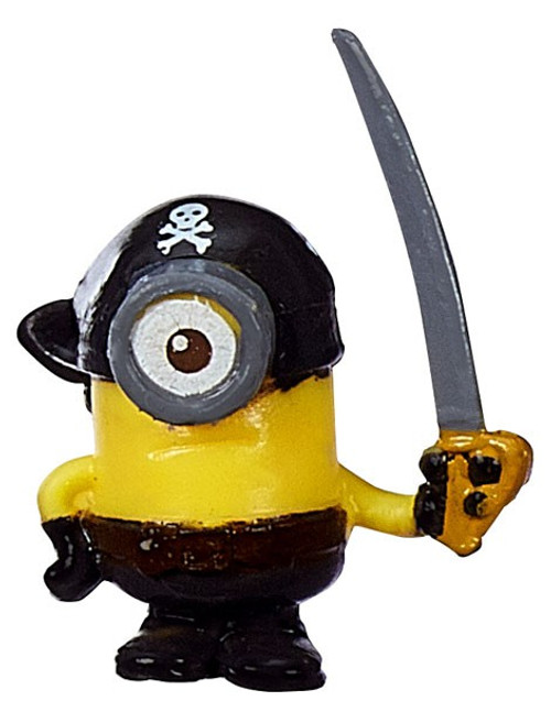 Despicable Me Minions Movie Challenge Card Game Pirate Stuart 1-Inch Micro Figure #23 [Loose]