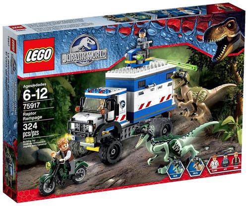 LEGO Jurassic World Raptor Rampage Set #75917