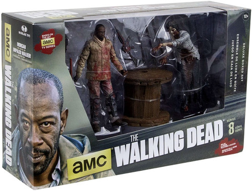 McFarlane Toys The Walking Dead AMC TV Morgan & Impaled Walker with Spike Trap Action Figure 2-Pack
