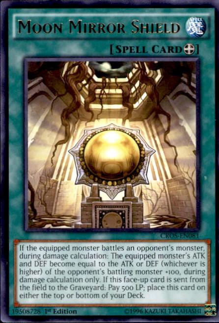 YuGiOh Crossed Souls Rare Moon Mirror Shield CROS-EN081