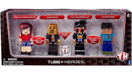 Tube Heroes AshleyMarieeGaming, JeromeASF, CaptainSparklez & Vikkstar123 Action Figure 4-Pack