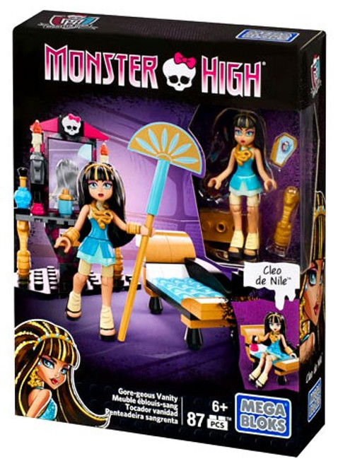 Mega Bloks Monster High Gore-geous Vanity Set #38272 [Cleo de Nile]