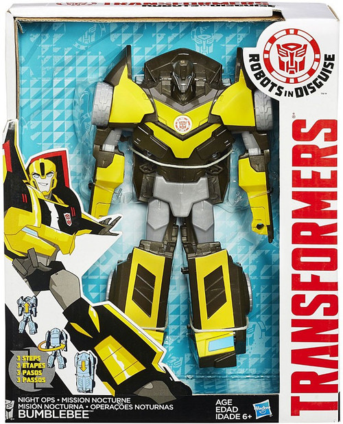 "Transformers Robots in Disguise Hyper Change Heroes Night Ops Bumblebee 10"" Action Figure [3-Step Changer]"
