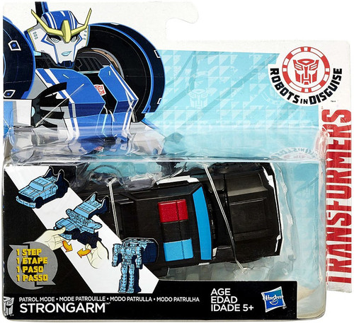 Transformers Robots in Disguise 1 Step Changers Patrol Mode Strongarm Action Figure