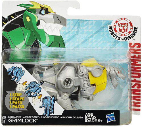 Transformers Robots in Disguise 1 Step Changers Gold Armor Grimlock Action Figure