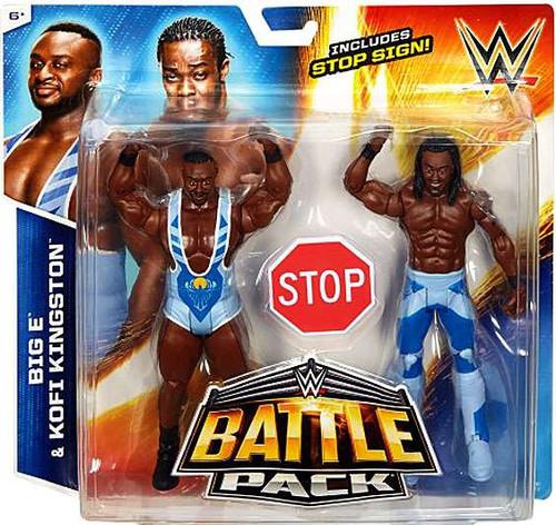 WWE Wrestling Battle Pack Series 36 Big E & Kofi Kingston (New Day) Action Figure 2-Pack [Stop Sign]