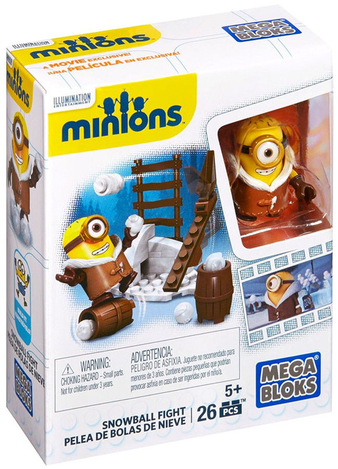 Mega Bloks Minions Snowball Fight Set #38017