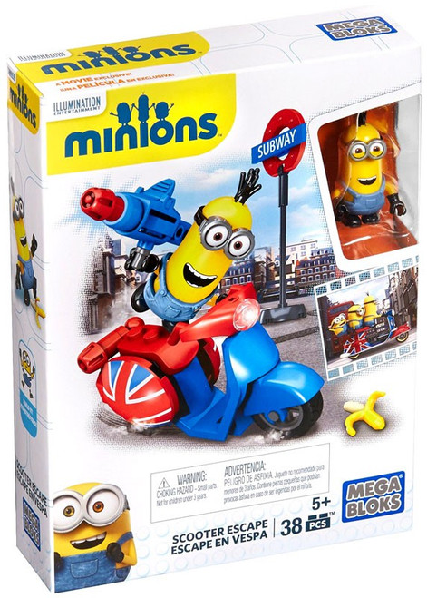 Mega Bloks Minions Scooter Escape Set #38021