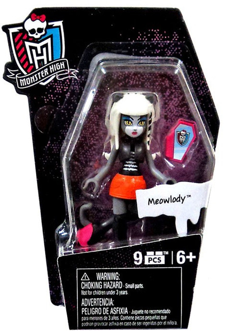 Monster High Mega Bloks Ghouls Skullection Meowlody Mini Figure #94266