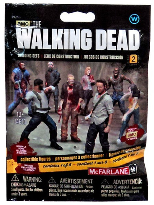 McFarlane Toys The Walking Dead Building Sets Series 2 Walking Dead Collectible Figures Mystery Pack #14610 [Walkers]