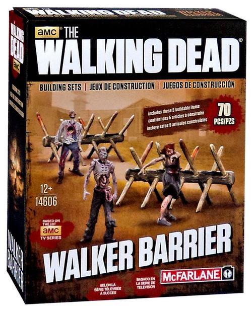 McFarlane Toys The Walking Dead Walker Barrier Building Set #14606