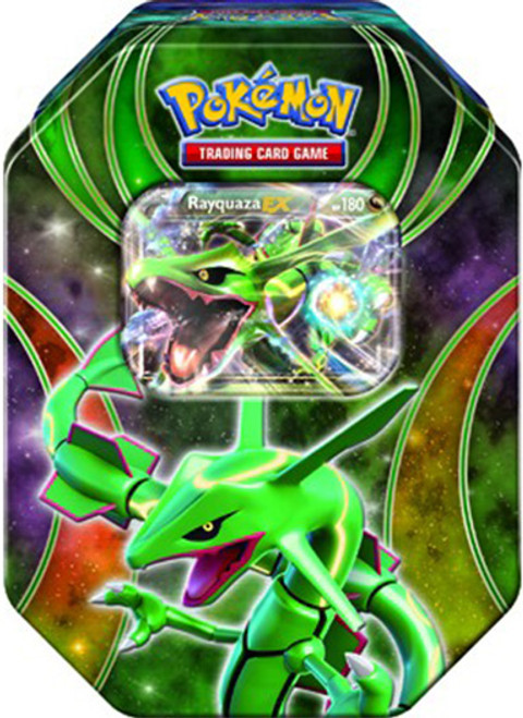 Pokemon Power Beyond 2015 Rayquaza-EX Tin Set