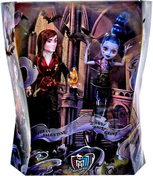 Monster High Kieran Valentine & Djinni Whisp Grant 10.5-Inch Villain Doll 2-Pack