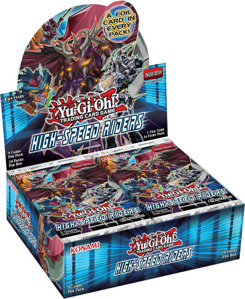 YuGiOh Trading Card Game High-Speed Riders Booster Box [24 Packs]