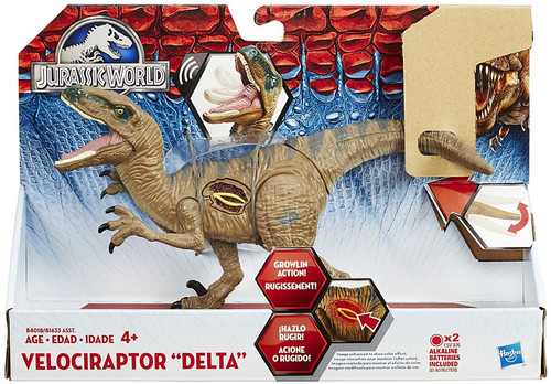 Jurassic World Growler Velociraptor Delta Action Figure
