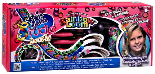 Rainbow Loom Hair Loom Studio Double Rubber Band Crafting Kit